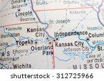 map view of kansas city   Shutterstock . vector #312725966