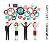 social media design  vector...   Shutterstock .eps vector #312732899