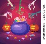 trick or treat. halloween... | Shutterstock .eps vector #312733706