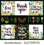 set of inspirational and... | Shutterstock .eps vector #312739970