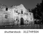 the historic alamo at twilight  ...