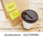 take away cup of coffee and... | Shutterstock . vector #312749984