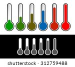 thermometer set. vector...