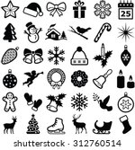 christmas and winter icons... | Shutterstock .eps vector #312760514