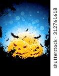 grunge background for halloween ...   Shutterstock .eps vector #312761618