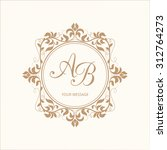 elegant floral monogram design... | Shutterstock .eps vector #312764273