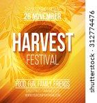 Harvest Festival Poster. Vecto...