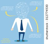 concept of business cartoon... | Shutterstock .eps vector #312774530
