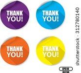 thank you written inside the... | Shutterstock .eps vector #312780140
