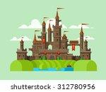 medieval castle. tower building ...   Shutterstock .eps vector #312780956
