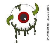 halloween worm in eyeball... | Shutterstock .eps vector #312781898