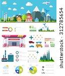 flat infographic gasoline... | Shutterstock .eps vector #312785654