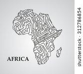 circuit board africa eps 10 ...   Shutterstock .eps vector #312786854