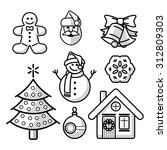 christmas or new year line icon ... | Shutterstock .eps vector #312809303