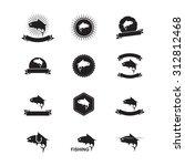 fish label | Shutterstock .eps vector #312812468