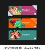 set of banners with stickers ... | Shutterstock .eps vector #312827558