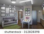 3d illustration of the one room ... | Shutterstock . vector #312828398