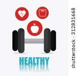 healthy lifestyle design ... | Shutterstock .eps vector #312831668