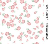 rose with leaf seamless pattern.... | Shutterstock .eps vector #312848426
