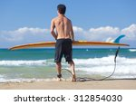 Portrait Of Surfer With...