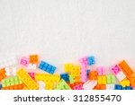 colorful building blocks on... | Shutterstock . vector #312855470