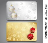 collection of gift cards with... | Shutterstock .eps vector #312862553
