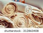 handmade textile in retro style ... | Shutterstock . vector #312863408