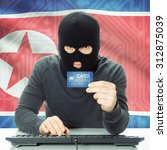 cybercrime concept with flag on ... | Shutterstock . vector #312875039