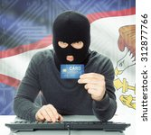 cybercrime concept with flag on ... | Shutterstock . vector #312877766
