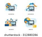 set of concept for data... | Shutterstock .eps vector #312880286