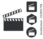 clapper board icon set ...