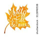 vector image of orange maple... | Shutterstock .eps vector #312898538