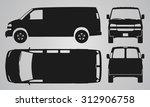 front  back  top and side van...   Shutterstock .eps vector #312906758