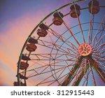 a fair ride shot with a long...   Shutterstock . vector #312915443