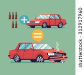 flat vector design on drink and ... | Shutterstock .eps vector #312917960