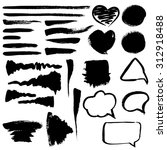 various design elements  brush... | Shutterstock .eps vector #312918488
