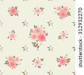 seamless pattern with bouquets... | Shutterstock .eps vector #312932270