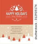 merry christmas background with ... | Shutterstock .eps vector #312935174