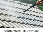 roof cleaning with high... | Shutterstock . vector #312944003