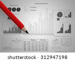 market concept with pencil... | Shutterstock . vector #312947198