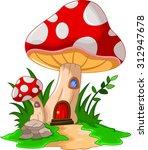 mushroom house for you design | Shutterstock .eps vector #312947678