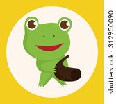 animal frog playing instrument... | Shutterstock .eps vector #312950090