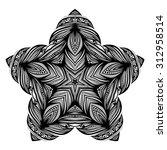 beautiful deco black star ... | Shutterstock . vector #312958514