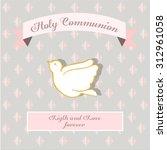 my first communion illustration ... | Shutterstock .eps vector #312961058
