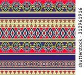 tribal art boho seamless... | Shutterstock .eps vector #312961916