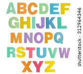 colorful alphabet foam on a... | Shutterstock . vector #312964346