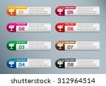 ice cream icon and marketing... | Shutterstock .eps vector #312964514