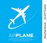 airplane top view symbol.... | Shutterstock .eps vector #312972203