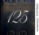 house number on hundred and... | Shutterstock . vector #312978623