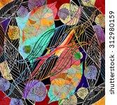 watercolor a retro background... | Shutterstock . vector #312980159